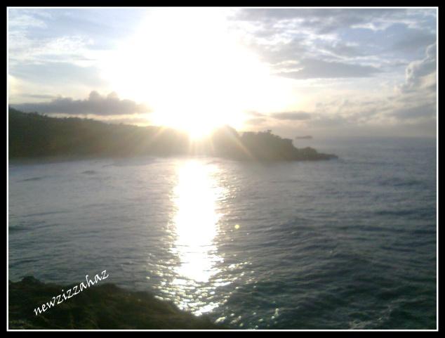 sunrise 2, matahari mulai muncul, sayang sudah agak tinggi