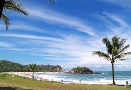 pantai klayar 2007... dua batang pohon kelapa itu sekarang sudah hilang